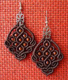 Macrame Earrings, Macrame Cord, Micro Macrame, Crochet Earrings, Fiber, Projects, Jewelry, Style, Ear Rings