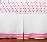 Ivy Damask Harper Crib Skirt, Bright Pink (comes in lots of colors)
