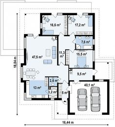 House Plans For Sale, House Plans One Story, Story House, Small House Plans, Bungalow Floor Plans, Bungalow House Design, House Floor Plans, Minimalist House Design, Minimalist Home