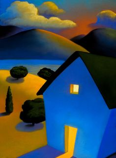I have loved her work forever. Adore, adore!    Blue House, pastel, © Victoria Taylor-Gore, 2007