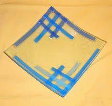 Resultado de imagen para platos cuadrados en vitrofusion