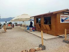 Beach Bar on Komarna Beach. A lovely place to eat and drink