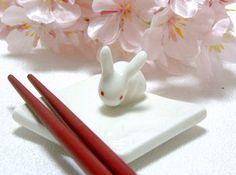 rabbit chopstick rest