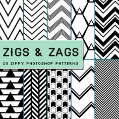 Zigs and Zags Pattern | Creative Market ~ Handcrafted, mousemade.