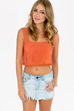 Charmed Life Crop Top $32 at www.tobi.com