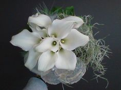 bruidsboeket - witte aronskelken falenopsis boechout