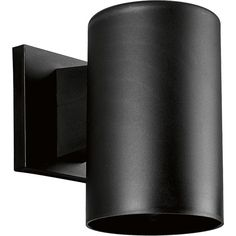 "View the Progress Lighting P5712 Cylinder 1 Light Outdoor Wall Sconce with Polycarbonate Cylinder Shade - 7"" Tall at LightingDirect.com."