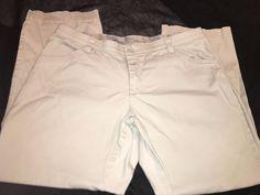 Lee Size 18W Medium Tan Pants Khaki Flat Front Comfort Waist Ladies Woman #Lee #KhakisChinos