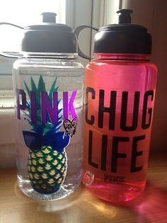 ;water bottles. (Drink water and be cute at the same time)