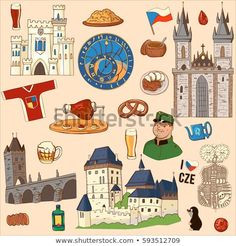 Find Czech Republic Symbol Set Icons Symbols stock images in HD and millions of other royalty-free stock photos, illustrations and vectors in the Shutterstock collection. Thousands of new, high-quality pictures added every day. Republic Symbol, National Symbols, Creative Activities, Czech Republic, Cute Drawings, Line Art, Royalty Free Stock Photos, Charles Bridge, Country
