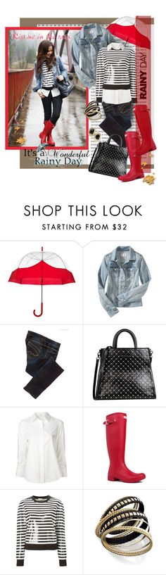 """""""Rainy Day Style Contest"""" by googie-googie ❤ liked on Polyvore featuring Oris, Hunter, Old Navy, Pepe Jeans London, Roccobarocco, Marc Jacobs, Michael Kors and Bar III"""