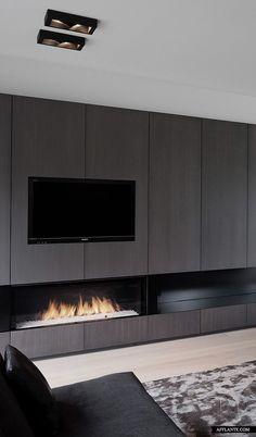 #architecture #design #interiors #living room #fireplaces #style #modern #contemporary - Harmonious House In Belgium Dennis T Jampens