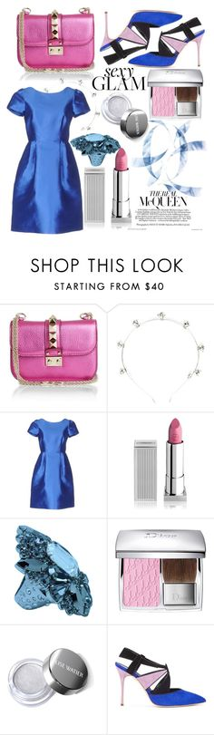 """""""the real"""" by m-ariaa ❤ liked on Polyvore featuring beauty, Valentino, Eugenia Kim, P.A.R.O.S.H., Lipstick Queen, Christian Dior and Manolo Blahnik"""