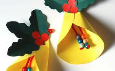 55 Stunning DIY Christmas Crafts for Kids Easy to Copy – Origami Christmas Arts And Crafts, Preschool Christmas, Christmas Bells, Christmas Activities, Christmas Projects, Kids Christmas, Holiday Crafts, Christmas Ornaments, Origami Christmas