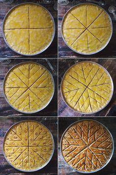 How to Cut Baklava in 4 Steps? # 4 # In step # Baklava # Cut? Armenian Recipes, Lebanese Recipes, Turkish Recipes, Greek Recipes, Lebanese Cuisine, Arabic Dessert, Arabic Sweets, Arabic Food, Middle East Food