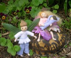 A young family of the fairy folk.