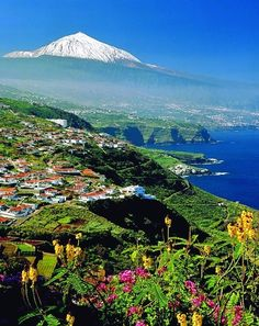 Teide with snow, Tenerife, Canary Islands, Spain.
