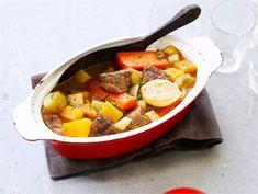 Juures-lihapata | Valio Some Recipe, Fodmap, Pot Roast, Healthy Recipes, Healthy Food, Ethnic Recipes, Malaga, Carne Asada, Healthy Foods