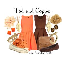 """""""Tod and Copper"""" by disneythis-disneythat on Polyvore - from The Fox and the Hound!"""