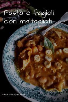 Pasta e fagioli Pasta E Fagioli, Italian Recipes, Soup, Handmade, Home, Hand Made, Soups, Handarbeit