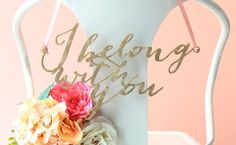 5 Song Lyric Wedding Details (That You Can Buy)