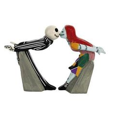 Jack and Sally Kiss Salt and Pepper Shakers