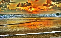 HD Glorious Beach On Sylt Isl Germany Hdr Wallpaper