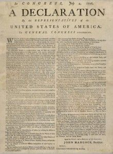 Declaration of Independence broadside 1776 Jamestown-Yorktown Foundation