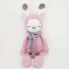 Crochet Animal Patterns, Crochet Patterns Amigurumi, Amigurumi Doll, Crochet Dolls, Sleeping Bunny, Crochet Rabbit, Crochet Instructions, Love Crochet, Crochet For Beginners