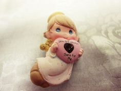 Retro You Are Always There For Me Angel Love Heart Heaven Brooch