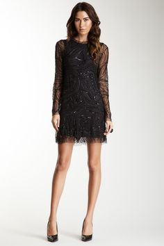 3c8906ca35 Keyhole open-back dress Lace Dress Black