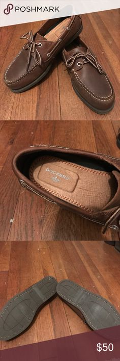 Dockers boat shoes Men's dockers leather boat shoes. Worn only a few times. Excellent condition. Dockers Shoes Boat Shoes