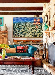 A Farmhouse in Florida Rich in Colorful Rustic Decor | Design*Sponge