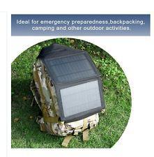 5W Watt Foldable Solar Charger Power Hiking Camping Mini 5V Rv Boat Off Grid AMP