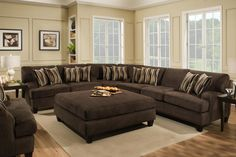 The Chelsea Home Furniture Mara Sectional Maverick Espresso features a beautiful style. Add warmness and sophistication to your living room area with the Mara group to give you the style and comfort you deserve. Sectional Sofa Sale, Brown Sectional, Sectional Ottoman, Reclining Sectional, Couches, Sofa Furniture, Living Room Furniture, Furniture Makeover, Chair And A Half