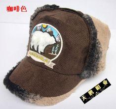 Fashion 2017 retro men's winter hat Corduroy lei feng cap ear winter hat plush winter warm hat cap Free shipping