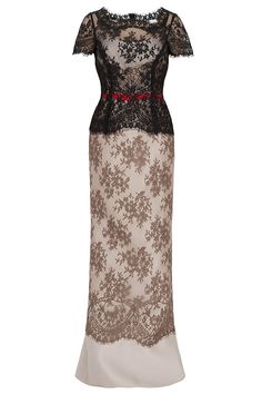 CONTRAST LACE GOWN By CAROLINA HERRERA @ http://www.boutique1.com/