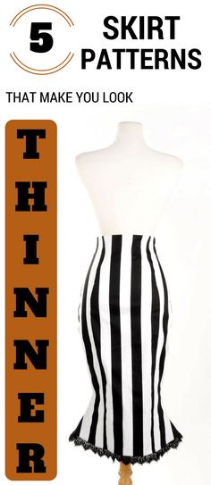 5 Skirt Patterns That Make You Look Thinner