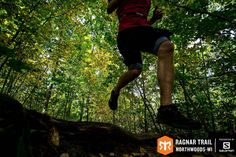 Jack be nimble, Jack be quick, Jack jumped over the huge log laying in the middle of the trail. #RagnarTrailNorthwoods