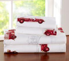 Firetruck bedding (sheets)
