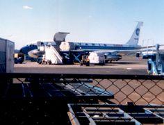 Varig 707-F (Cargo / 70F / PP-VLN) - década de 1980 - Foz do Iguaçu-Cataratas (IGU), PR, Brasil.