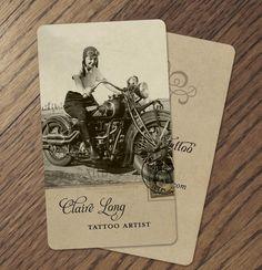 Vintage Inspired Motorcycle Girl