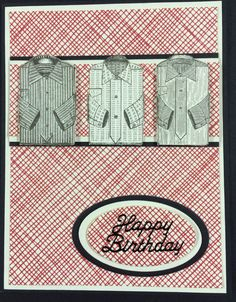 Anna Griffin papers used to make a birthday card for a guy!