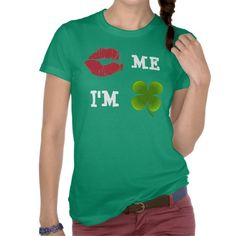 Kiss Me I'm Irish T-shirt - for your Saint Patrick's Day celebration!
