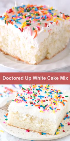 Our family LOVES this doctored up white cake mix recipe! The cake turns out so moist and flavorful, gets tons of compliments each time I make it, plus no one knows it starts with a box mix! mix recipes videos Doctored Up White Cake Easy Vanilla Cake Recipe, Chocolate Cake Recipe Easy, Chocolate Cake Mixes, Chocolate Recipes, Best White Cake Mix Recipe, Moist Vanilla Cake, Chocolate Ganache, Chocolate Chips, Sweets