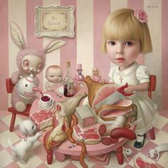 "La belleza del día: ""La fiesta del té de Rosie"", de Mark Ryden Mark Ryden, Arte Lowbrow, Pop Art, Hi Fructose, Tim Walker, Arte Horror, Creepy Cute, Art Abstrait, Art Design"