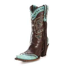 Lucchese Brown Fringe Cowgirl Boots