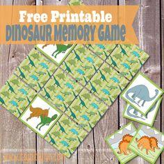 Printable Dinosaur Memory Game - Itsy Bitsy Fun