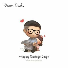 Happy Daddy's Day (Girl version)