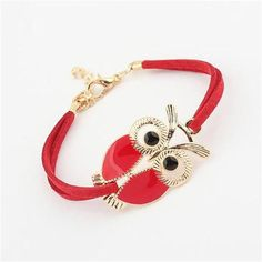 Vintage Owl Decoration Faux Leather Hair Pin
